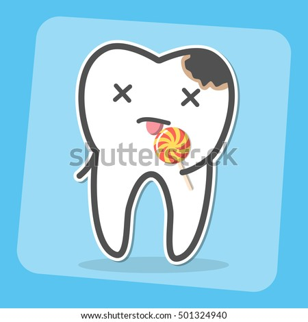 bad tooth with caries cavity