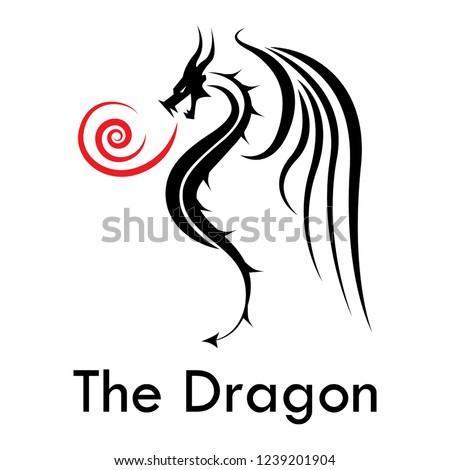 badass dragon side view blowing