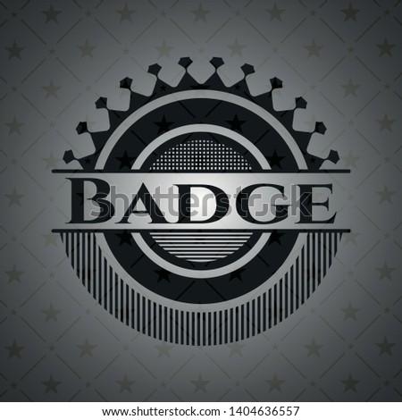 Badge black badge. Vector Illustration. Detailed.
