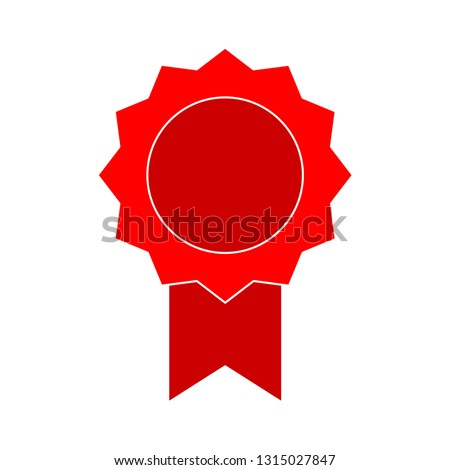 badge icon - badge isolated , ribbon illustration -Vector award badge #1315027847