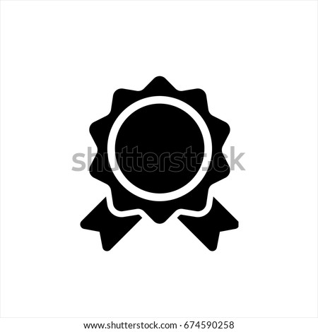 Badge icon in trendy flat style isolated on background. Badge icon page symbol for your web site design Badge icon logo, app, UI. Badge icon Vector illustration, EPS10.