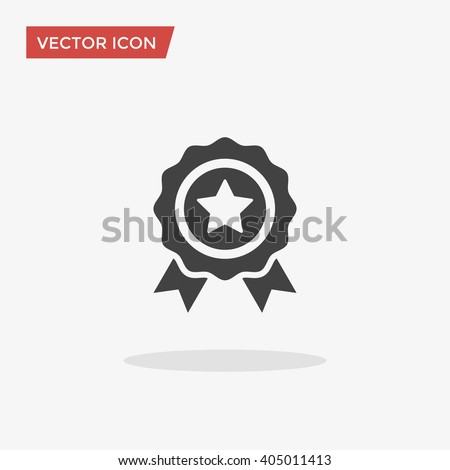 Badge Icon in trendy flat style isolated on grey background. Award  symbol for your web site design, logo, app, UI. Vector illustration, EPS10.