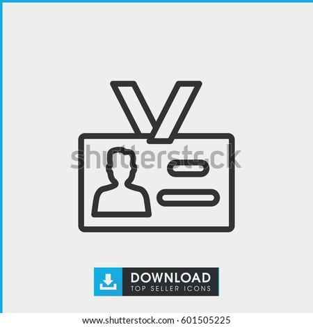 badge icon. simple outline badge vector icon. on white background.
