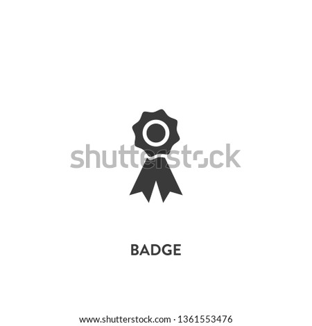 badge icon vector. badge sign on white background. badge icon for web and app