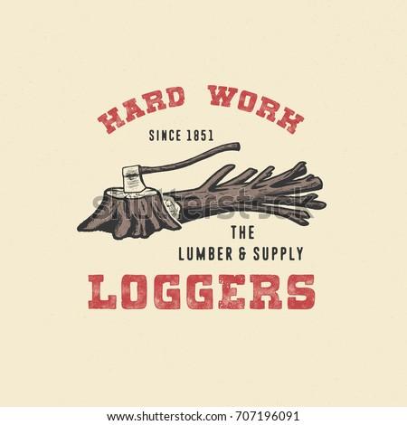 badge logger. handmade axe ...