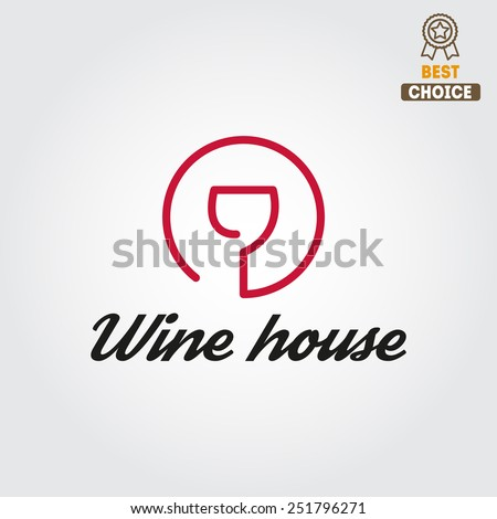 Badge or label for wine, winery or wine house