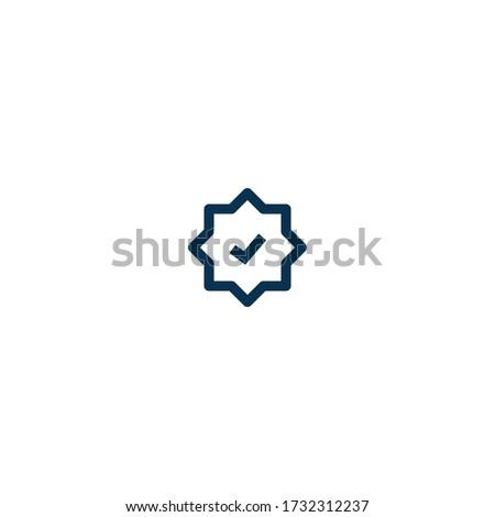 badge   pictograph   line icon