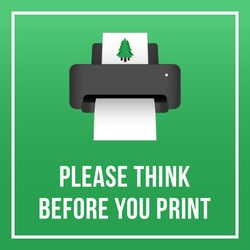 Badge Please Think Before You Print