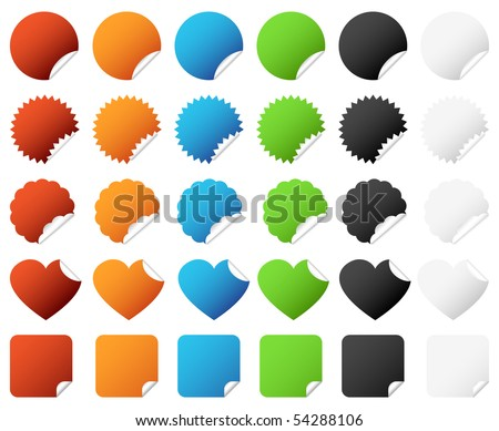 stock vector : Badge Sticker Set Vector