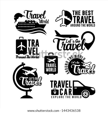Badge Travel Logo world Collection