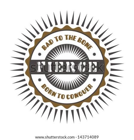 badge vintage label fierce #143714089