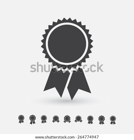 Badge with ribbons icon, vector set, simple flat design  Stockfoto ©