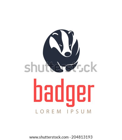 badger icon animal emblem