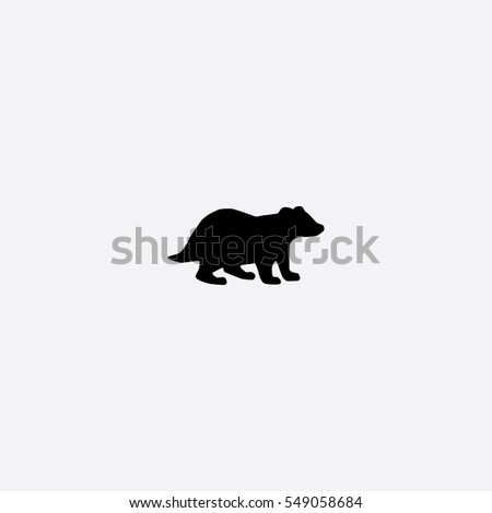 badger icon silhouette vector