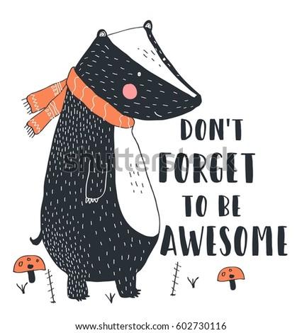badger  illustration vector for