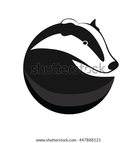 badger vector logotype  badger