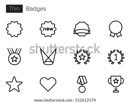 badges   achievements line