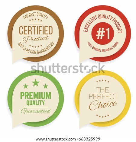 Badges and labels collection. Quality, assurance marks. Vector