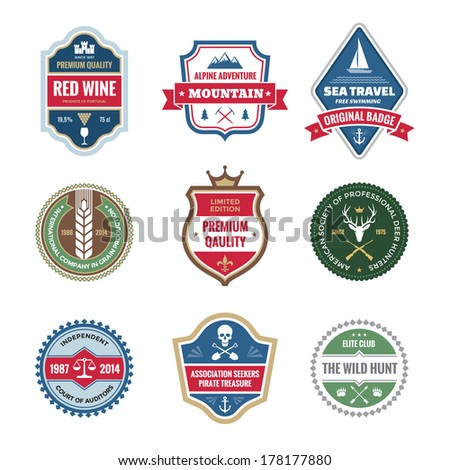 badges collection in vector