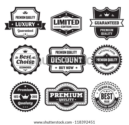 retro badge template vector download free vector art stock
