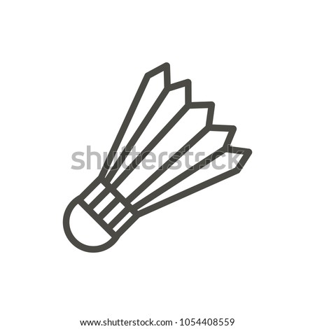Badminton ball icon vector. Line badminton symbol. Trendy flat outline ui sign design. Thin linear graphic pictogram for web site, mobile application. Logo illustration. Eps10.