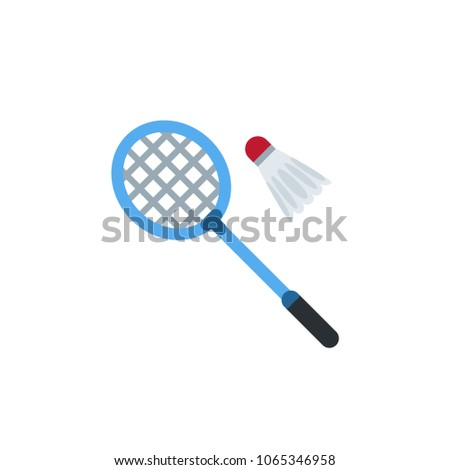 Badminton shuttlecock racket and ball championship professional sport icon vector symbol illustration