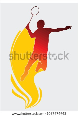 badminton silhouette icon