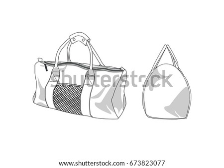 3a83946a27 Duffle bag vectors - Download Free Vector Art
