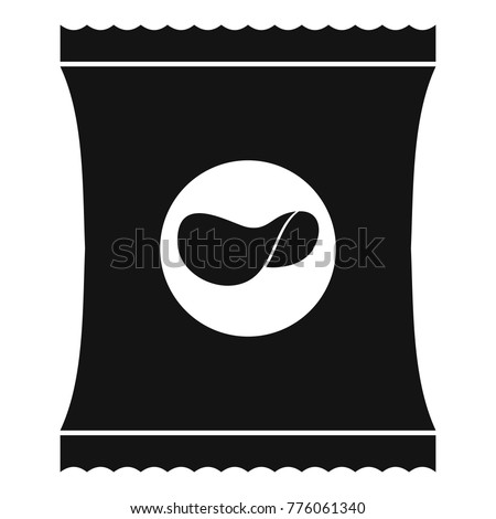 Bag or packet potato chips icon. Simple illustration of potato chips vector icon for web