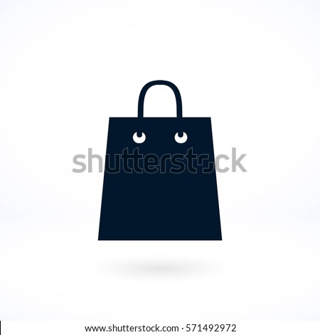 bag vector icon, flat design best vector icon