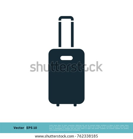 Baggage Icon Vector Logo Template