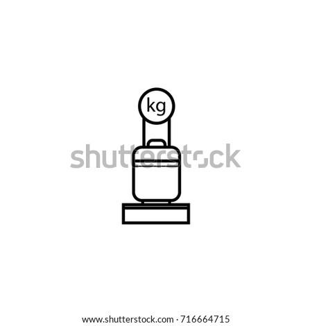baggage scale icon vector