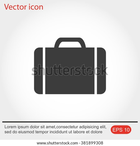 Baggage vector icon
