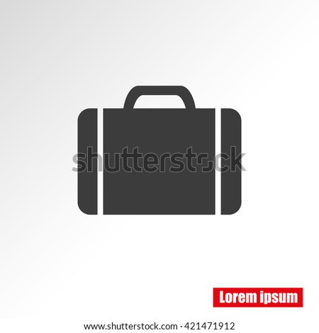 Baggage vector icon