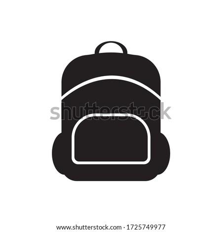 bagpack travel icon logo design illustration Stockfoto ©