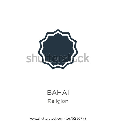 Bahai icon vector. Trendy flat bahai icon from religion collection isolated on white background. Vector illustration can be used for web and mobile graphic design, logo, eps10