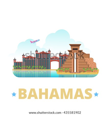 bahamas country badge fridge