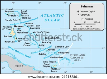Bahamas Country Map
