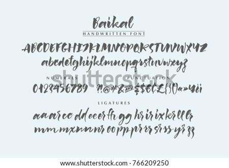Baikal handwritten calligraphic brush bold font