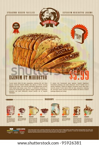 Bakery Advertisement Design Template