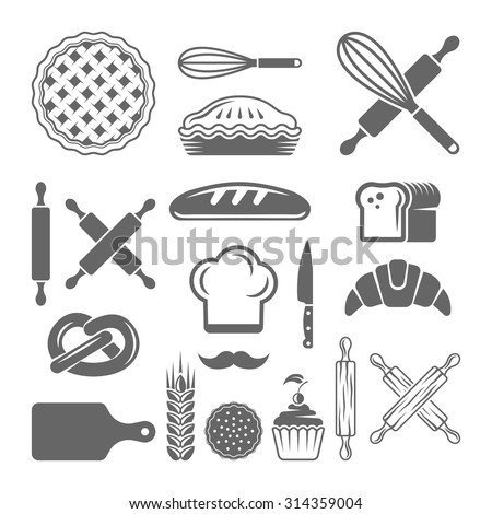 Baking Tools Vector Iconswebsite Icons Website Search Icons  Icon Set Web Icons