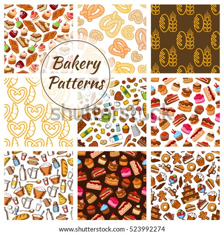 bakery and pastry food seamless