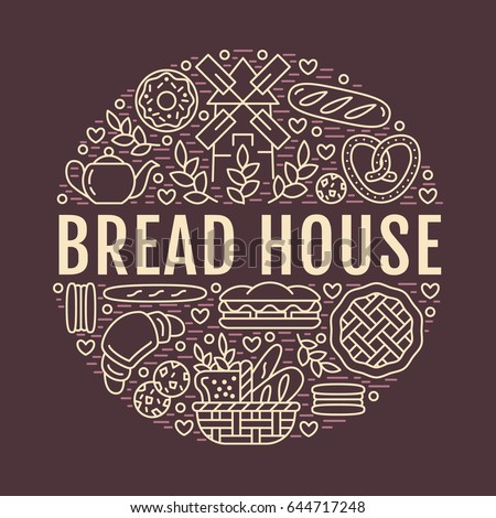 bakery  bread house poster