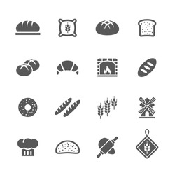 Bakery/ bread icons set.