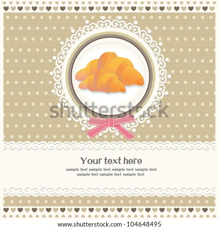 Bakery Card - Cover Menu for bakery - vector illustration