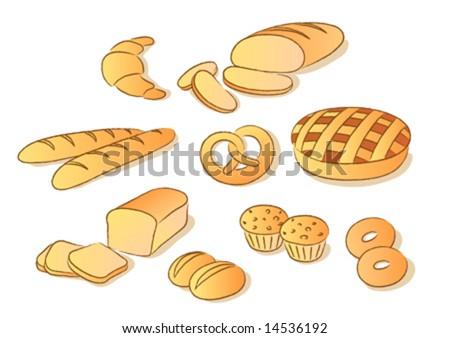 Free Clip Art Bakery Goods Bakery Clip Art Set