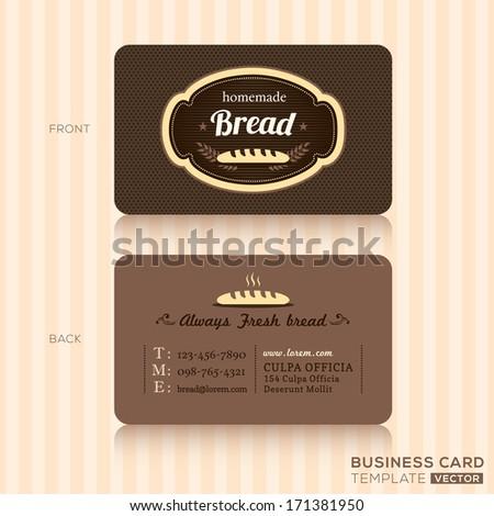 Bakery House Business card Design Template