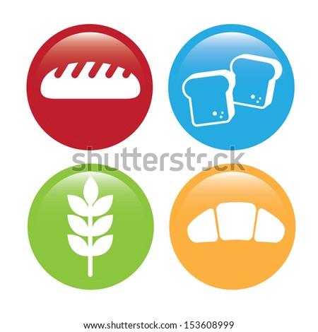 bakery icons over white background vector illustration