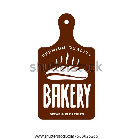Bakery logo templates. Baker, grain, bread, cooking board. Vintage style bakery badges and labels. Black and white logo templates for your design. Vector illustration isolated on white background. Stock photo ©