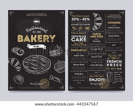 bakery menu design and bakery